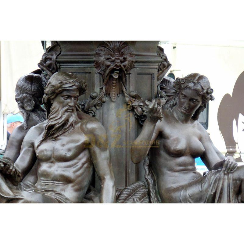 Large Fountain Bronze Metal figure Sculpture