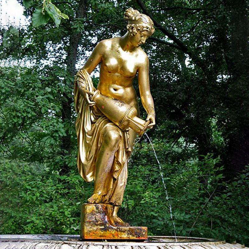 Bronze Nude Girl Fountain Statue for sale