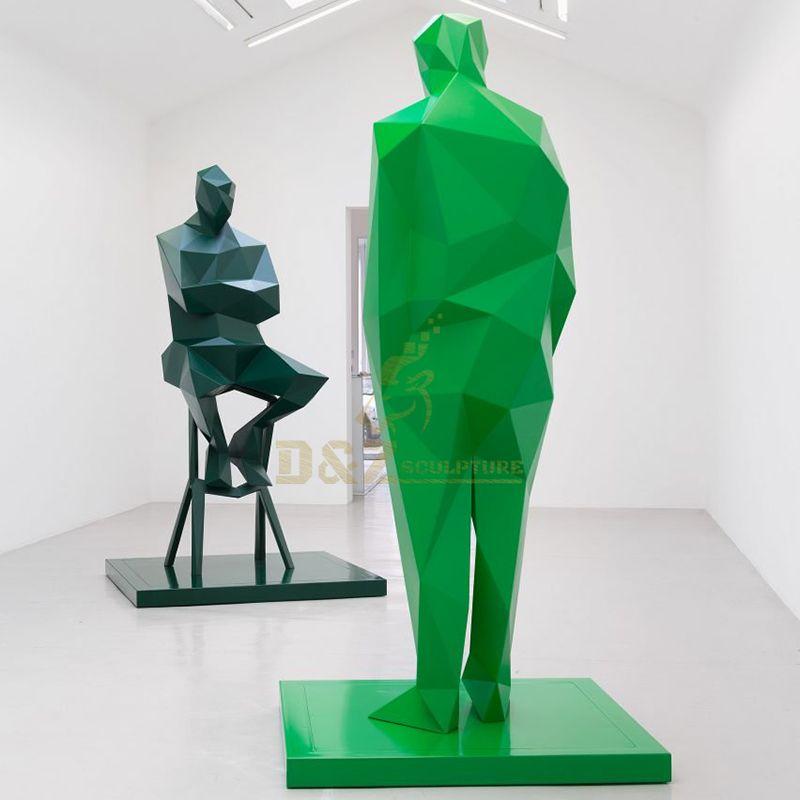 Garden Decoration Modern Fashion Stainless Steel Giant Models Figure Sculpture