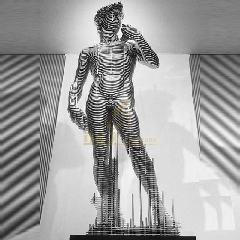 Famous Design Large Stainless Steel Nude Man Sculpture