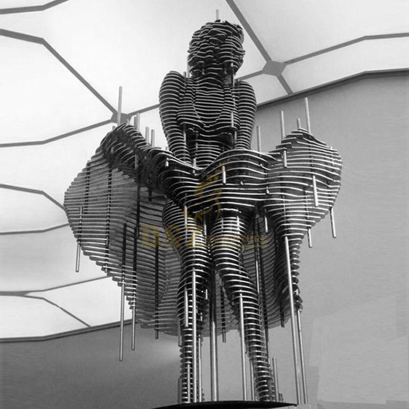 Large Stainless Steel Marilyn Monroe Metal Hollow Sculpture