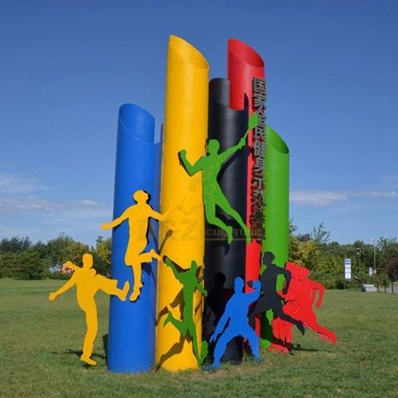 Stainless Steel Sports Color Outdoor Sculpture