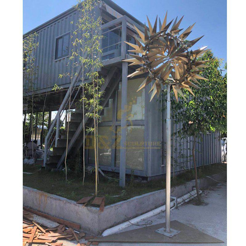 Outdoor Decorative Art Stainless Steel Wind Kinetic Sculpture