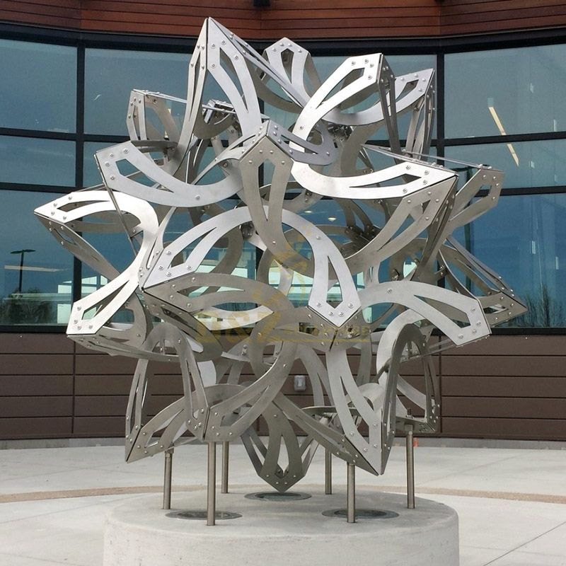 Large Hollow Stainless Steel Geometric Sculpture