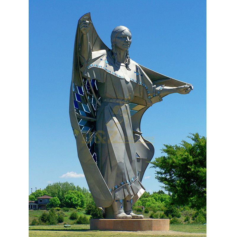 Outdoor Stainless Steel Large Woman Modern Sculpture