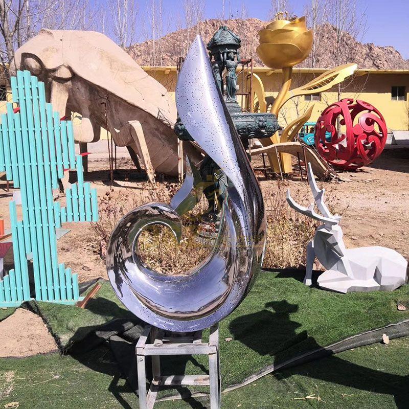Large Size Modern Art Stainless Steel Outdoor Sculpture
