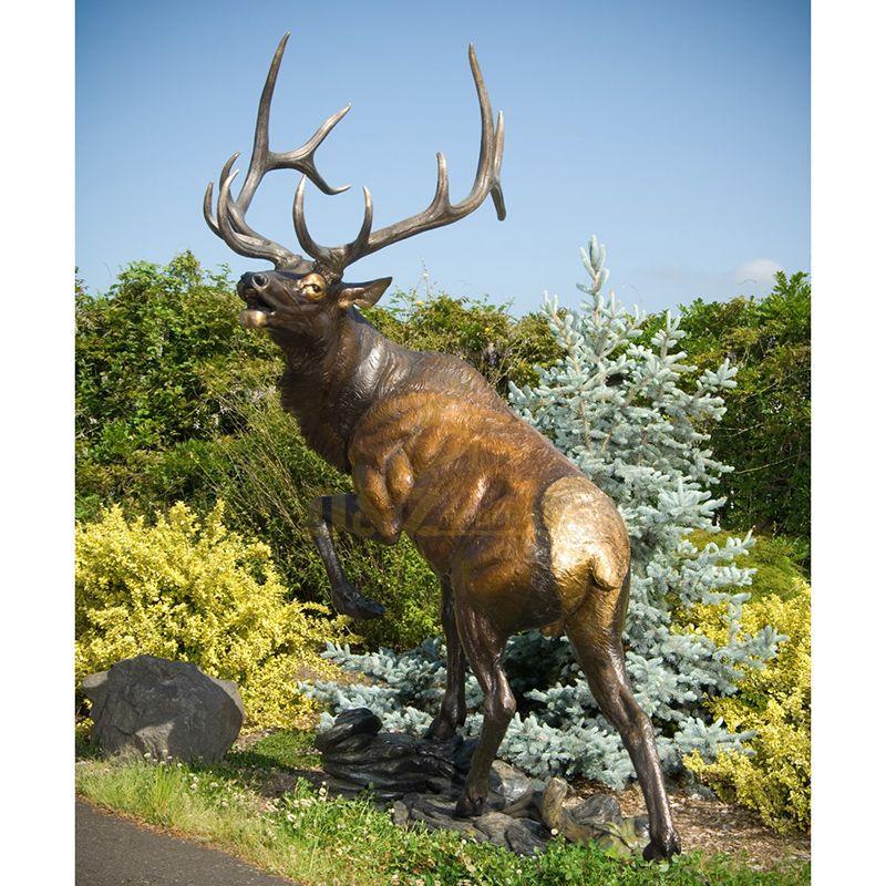 Life Size Walking Bronze Tibetan Antelope Sculpture Goat Statue