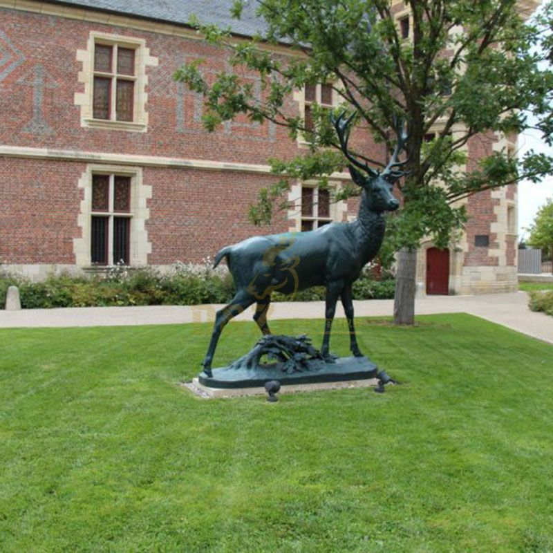 Garden Decoration Animal Bronze Antelope Sculpture