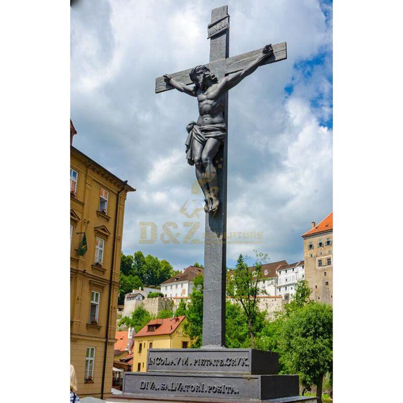 Orthodox Church Metal Cross Lord Jesus Christ Statue