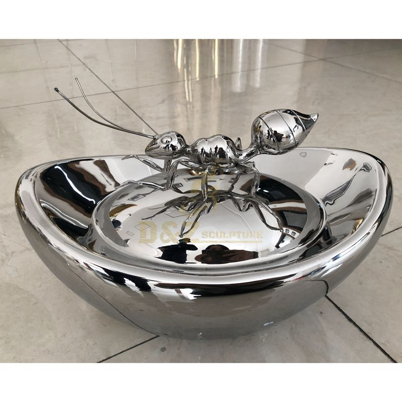 Outdoor Decoration Garden Stainless Steel Giant Ant Sculpture for sale
