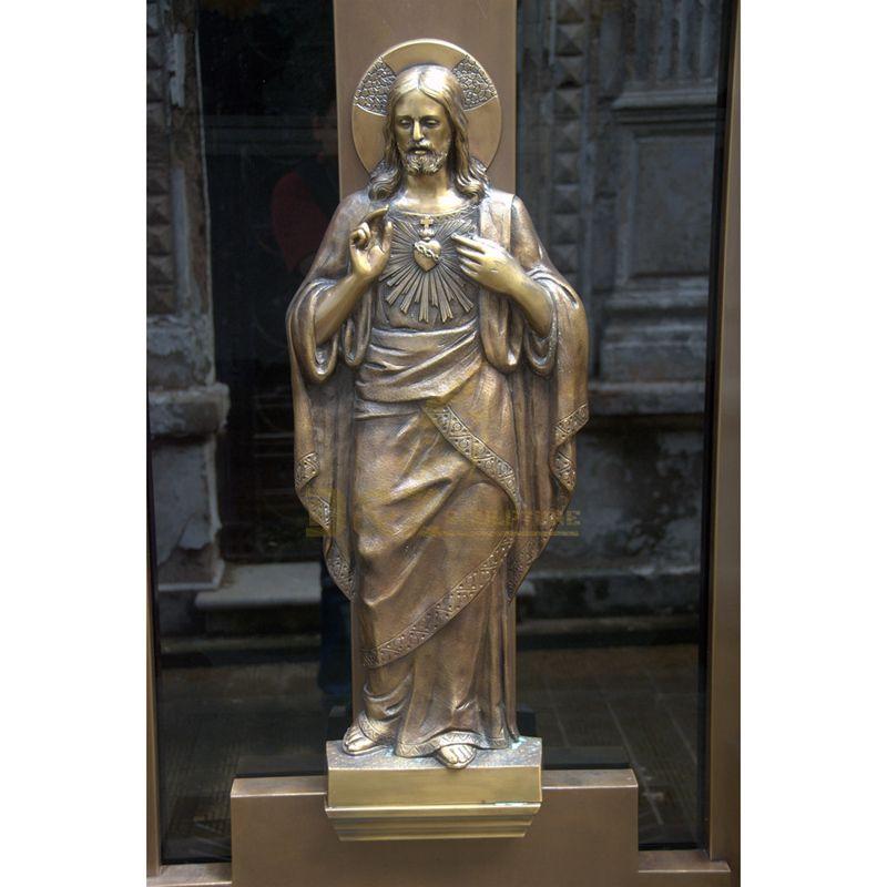 Life Size Bronze Jesus Art Statue Copper Holy Saint Catholic Sculpture