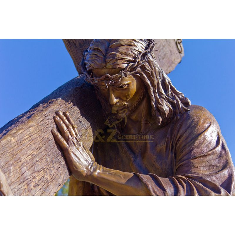 Customized Large Meditating Bronze Jesus Christ Statue For Garden