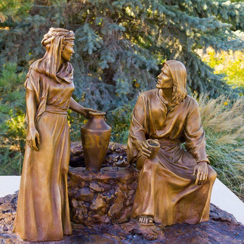 Commercial Street Figure Sculpture Cast Bronze Jesus Statue