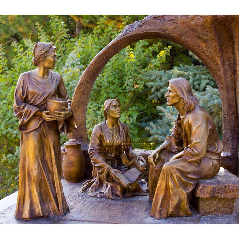 Catholic Religious Sculpture Bronze Jesus With Children Statue