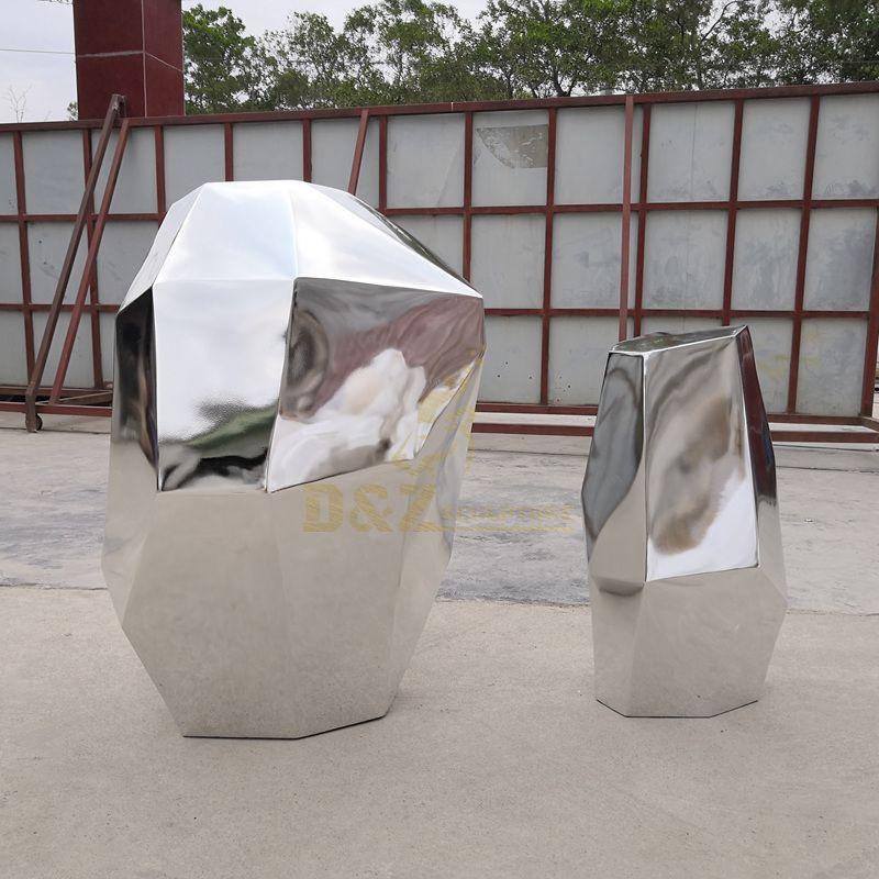 Large arts modern geometric metal stainless steel sculpture