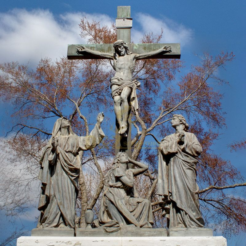 Outdoor Decor Christianity And The Cross Bronze Jesus Statue For Sale