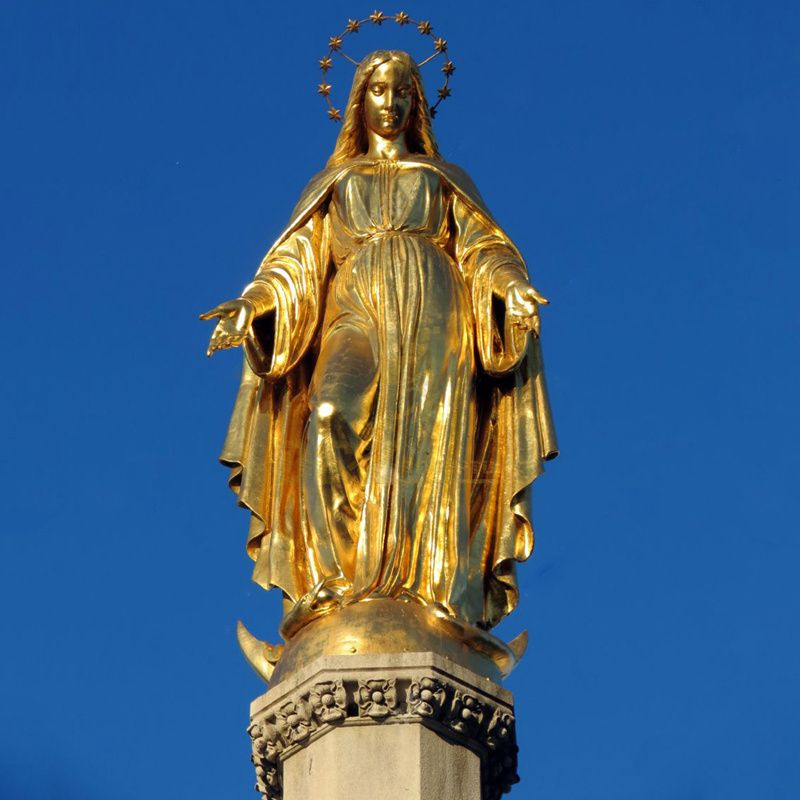 Outdoor Life Size Christ Religious Bronze Virgin Mary Statue