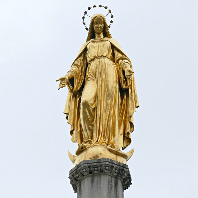 Factory Supply Life Size Bronze Brass Mary Sculpture