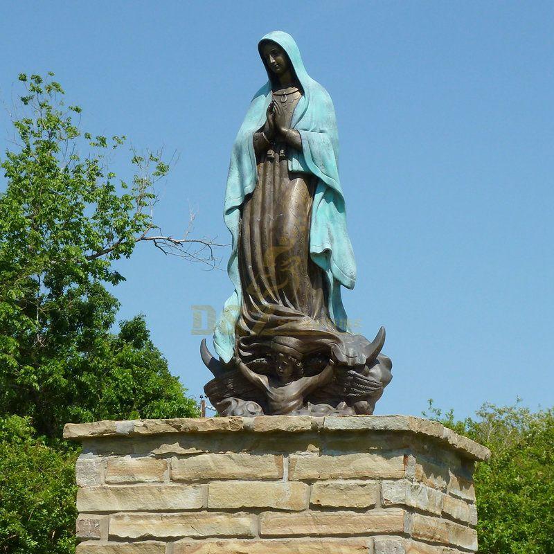 Custom Christ Religious Art Deco Bronze Virgin Mary Statue