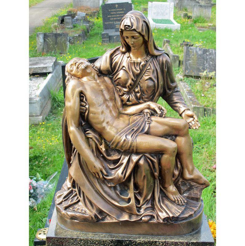 Outdoor Sculpture Life Size Bronze Virgin Mary Statue