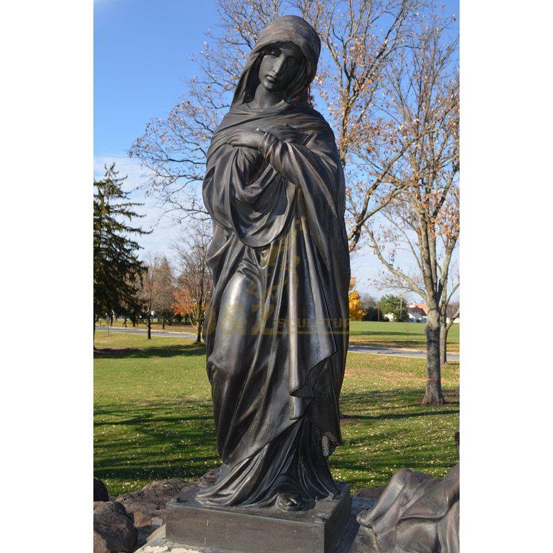 Life Size Church Decor Bronze Virgin Mary Fatima Statue For Sale