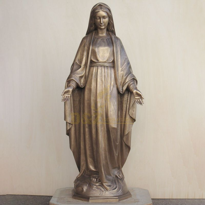 Cheap Factory Price Christianity Bronze Virgin Mary Statue
