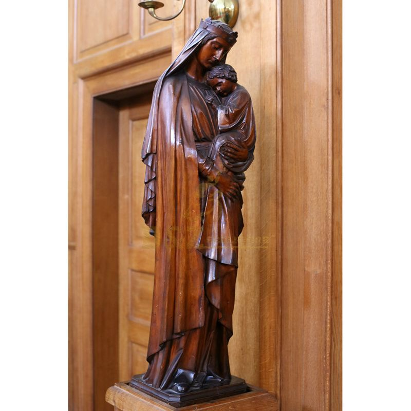 Home Decoration Bronze Virgin Mary Garden Statues