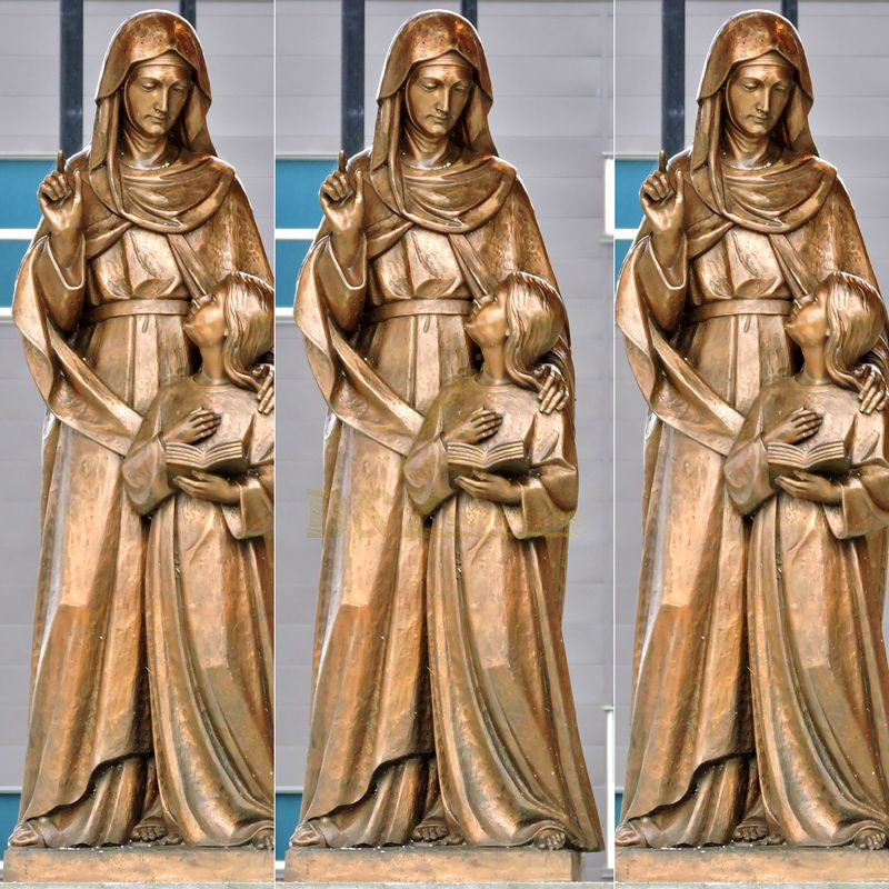 Hot Sale Life Size Bronze Saint Anne and Virgin Mary Statues For Decoration