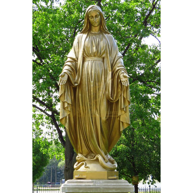 Factory Direct Supply Customized Virgin Mary Cast Bronze Statue