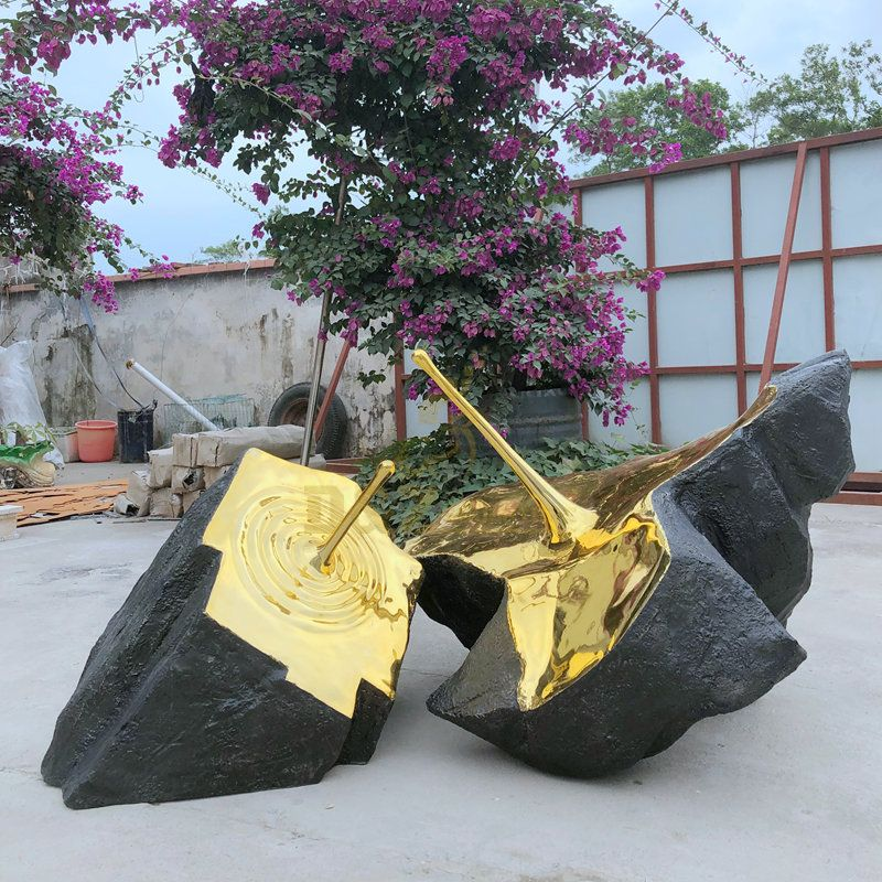 Large wholesale polished metal stainless steel sculpture