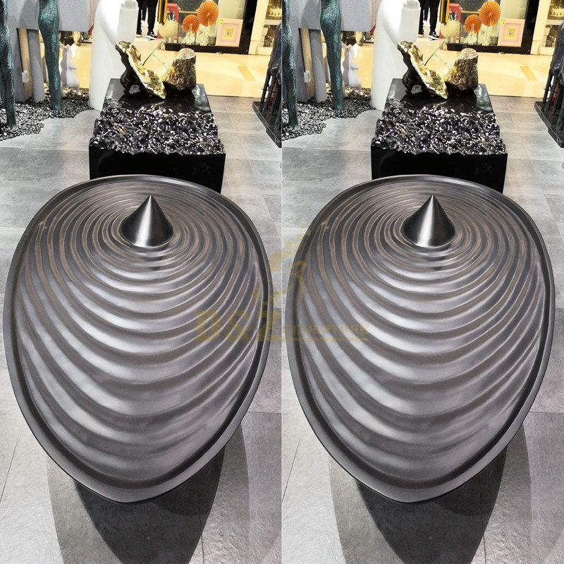 Large circle design stainless steel sculpture with plating color