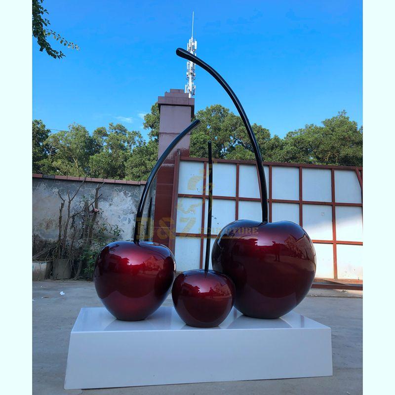 Garden Decorative Metal Stainless Steel Cherry Sculpture