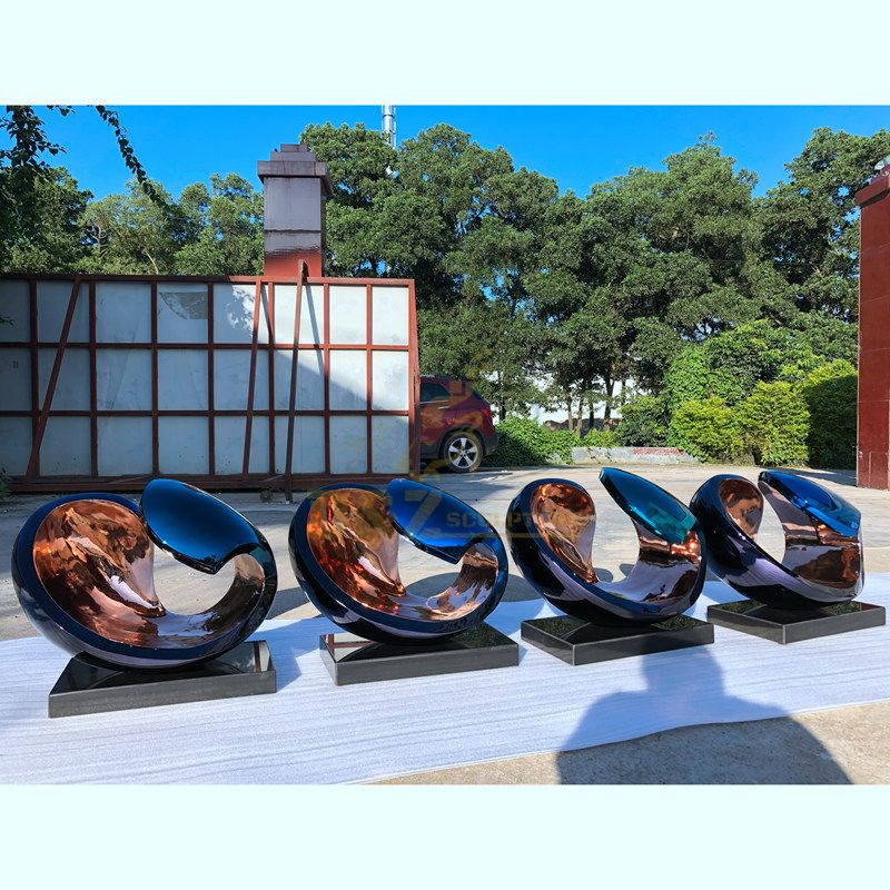 Outdoor Large Mirror Polished Abstract Stainless Steel Sculpture