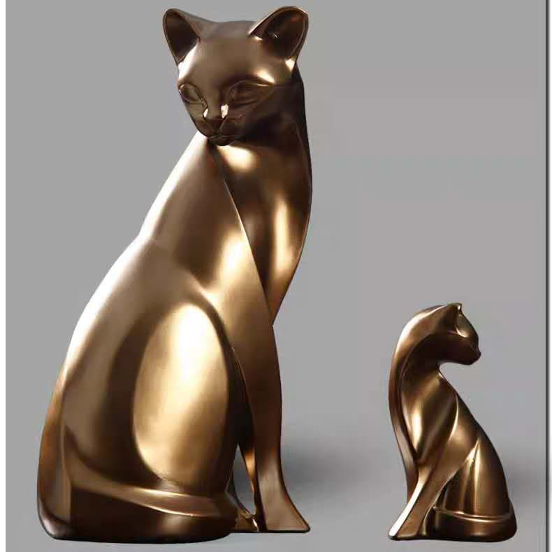 Animal Statue Metal Cat Sculpture Stainless Steel Cat Sculpture