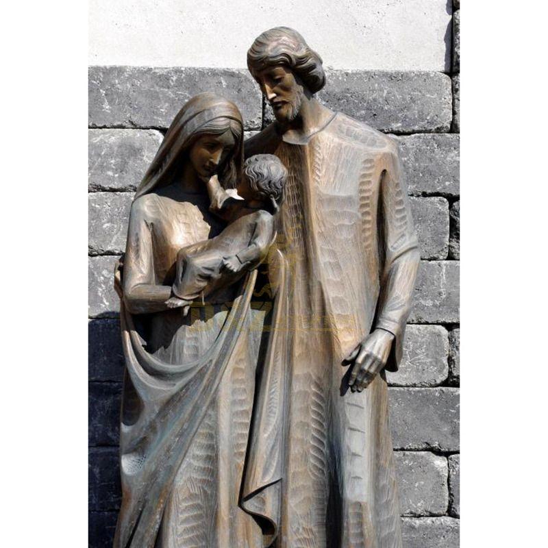 Custom Sculpture Bronze Holy Family Statue