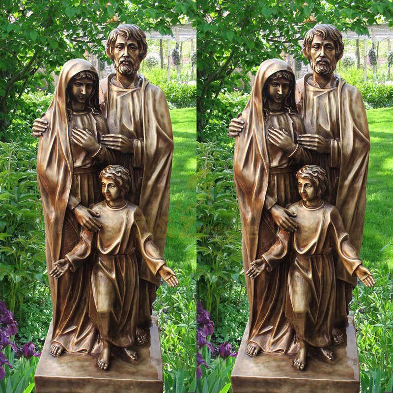 Life Size Holy Family Cast Bronze Statue