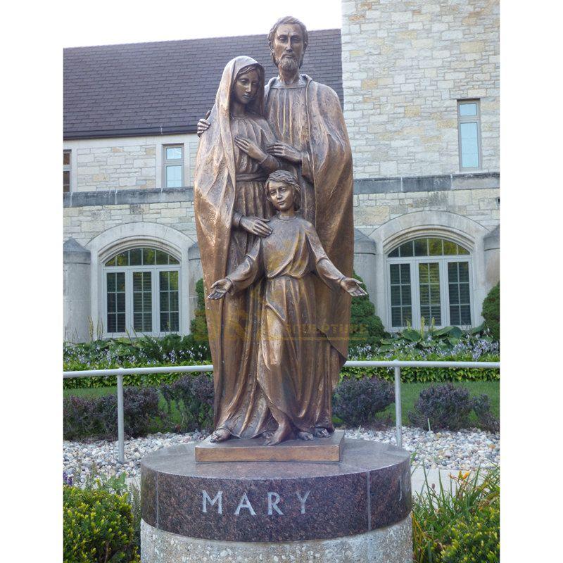 Religious Casting Bronze Jesus Statue Of Holy Family