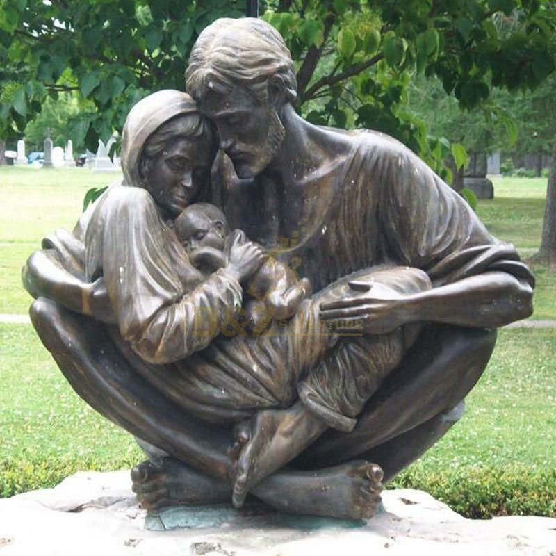 Decorative Church Bronze Holy Family Statue