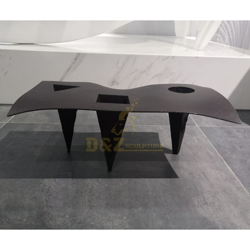 Stainless Steel Outdoor Abstract Desk Sculpture