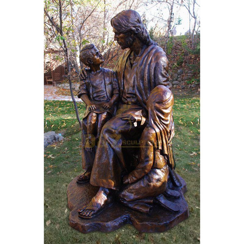 Hot Sale Religious Catholic Life Size Bronze Jesus Holy Family Garden Statues