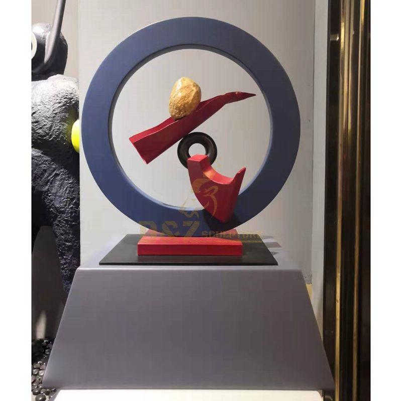 Indoor custom stainless steel round modern sculpture