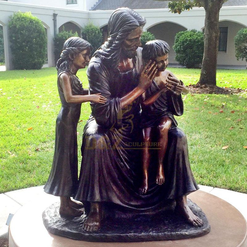 Art Figures Decoration Outdoor Holy Family Large Size Metal Sculpture For Garden