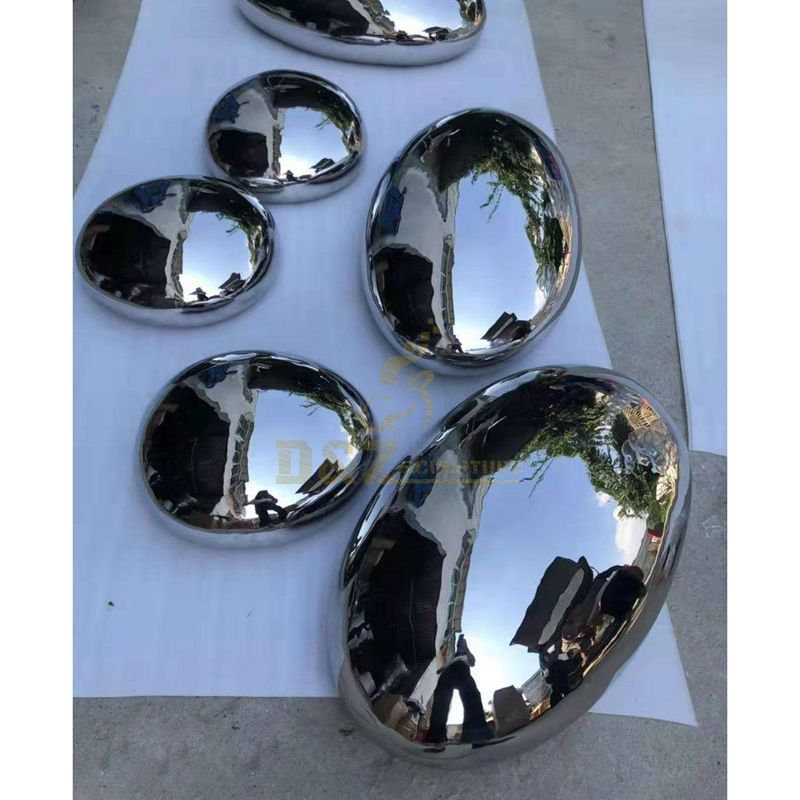 Stainless Steel Rock Ellipse Sculpture Stone sculpture