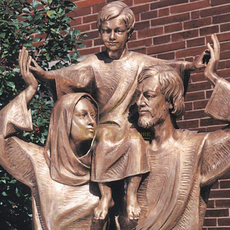 Famous Design Decoration Bronze Holy Family Statue