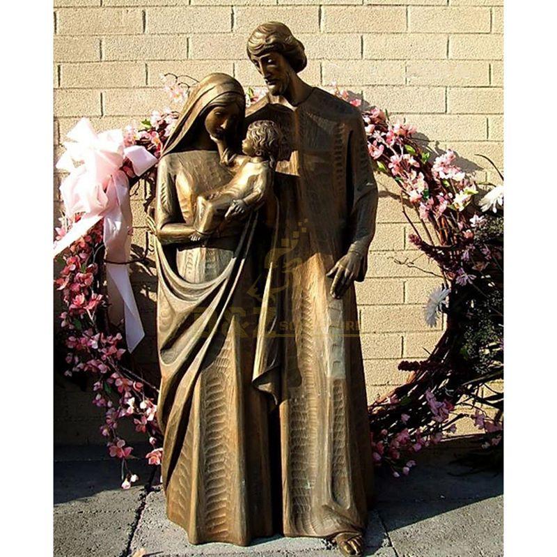 High Quality Garden Decor Bronze Holy Family Outdoor Statue