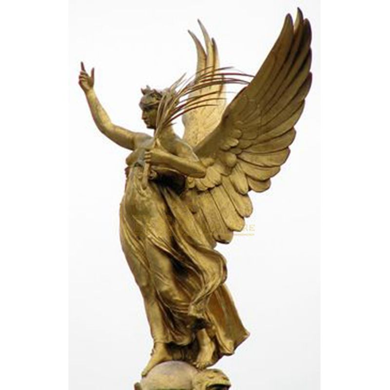 Outdoor Decor Metal Art Statue Life Size Garden Angel Metal Sculpture Bronze