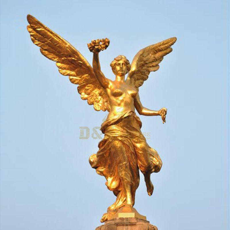 Outdoor Decor Metal Art Statue Life Size Garden Angel Metal Sculpture Bronze