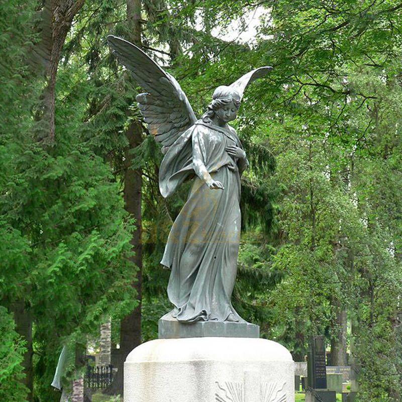 Bronze Metal Angel Sculpture Home Decor