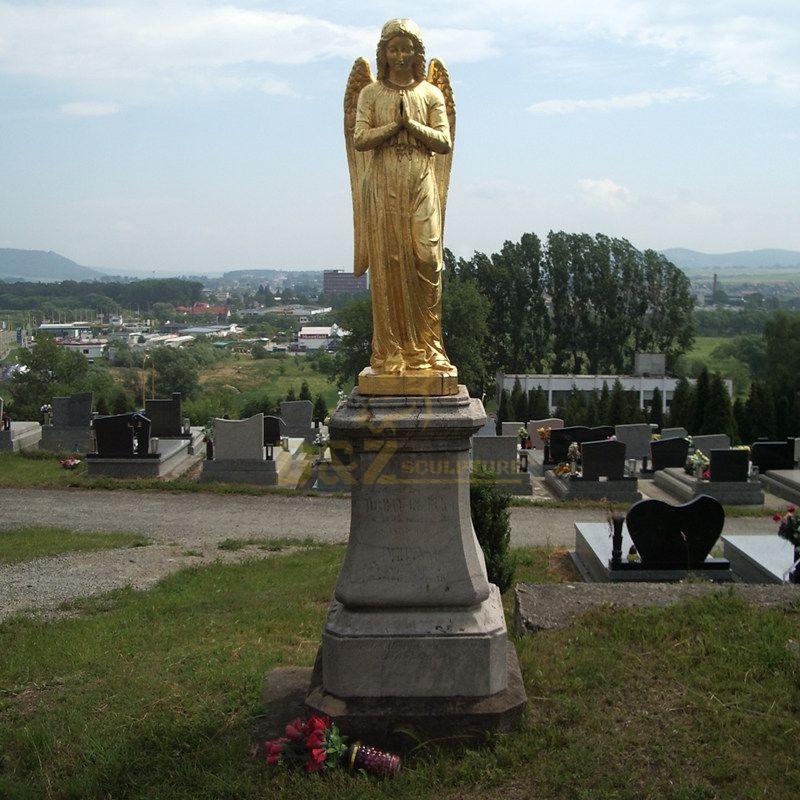 Bronze Brass Angel With Big Wings Statue Wholesale Metal Craft Bronze Winged Angel Statue