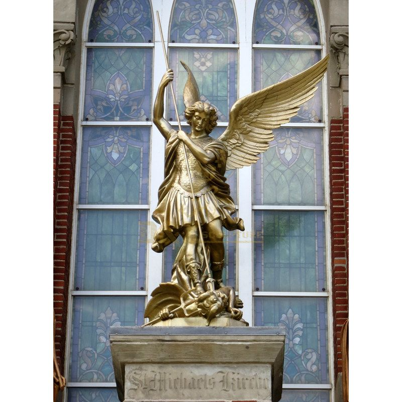 High Quality New Products This Year Casting Large Bronze Angel Sculpture St Michael
